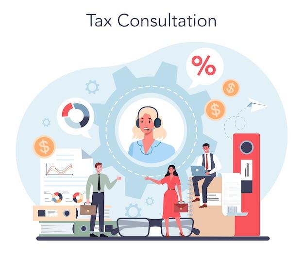 Illustration de concept de consultant fiscal