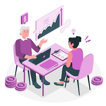 Illustration de concept de consultation