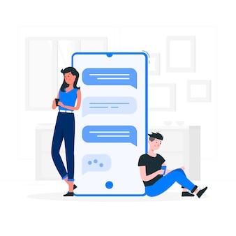 Illustration de concept de conversation