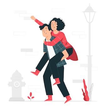 Illustration de concept de copains
