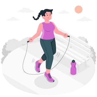 Illustration de concept de corde à sauter