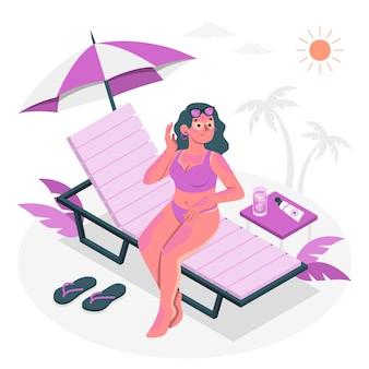 Illustration de concept de coup de soleil