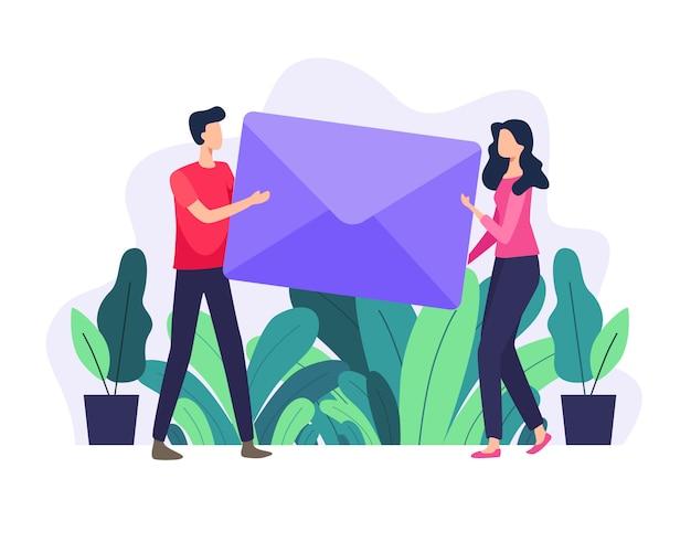 Illustration de concept de courrier électronique