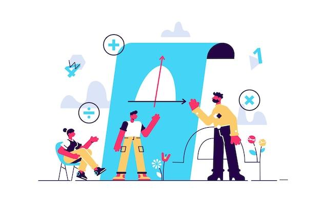 Illustration de concept de cours de mathématiques