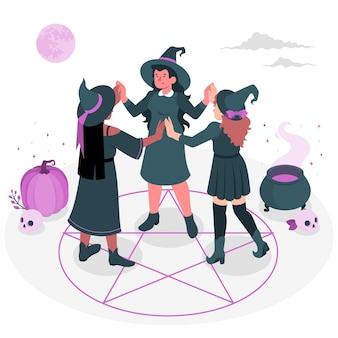 Illustration de concept de coven