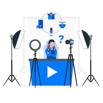 Illustration de concept de créateur de contenu