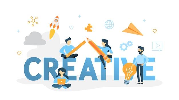 Illustration de concept créatif