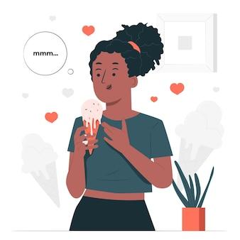 Illustration De Concept De Crème Glacée Fondue Vecteur gratuit