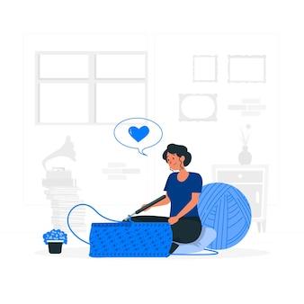 Illustration de concept de crochet