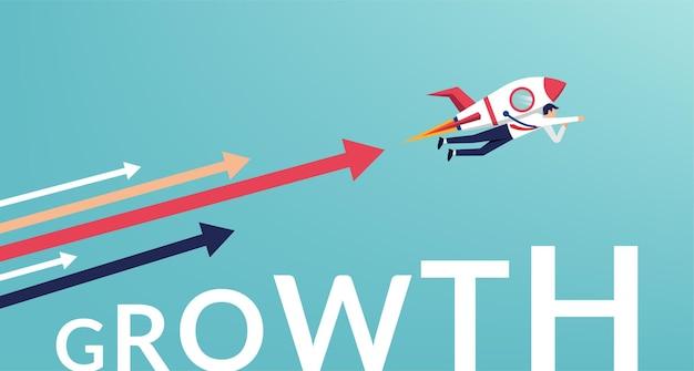 Illustration de concept de croissance et de développement de carrière.