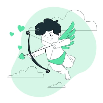 Illustration De Concept De Cupidon Vecteur gratuit