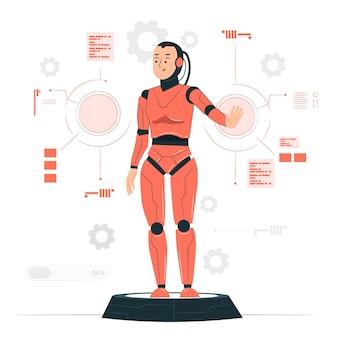 Illustration de concept de cyborg