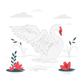 Illustration de concept de cygne élégant