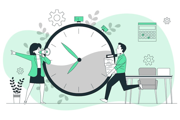 Illustration de concept de date limite