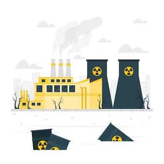 Illustration de concept de déchets dangereux