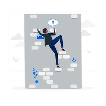Illustration de concept de défi commercial
