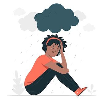 Illustration de concept de dépression