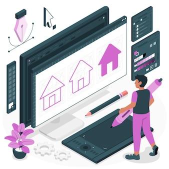 Illustration de concept de design icône
