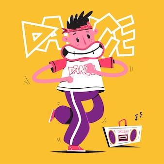 Illustration de concept de dessin animé de danseur
