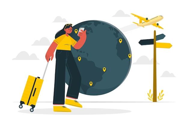 Illustration de concept de destination