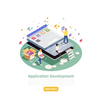 Illustration de concept de développement d'applications