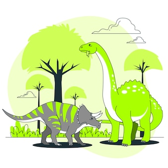 Illustration de concept de dinosaures