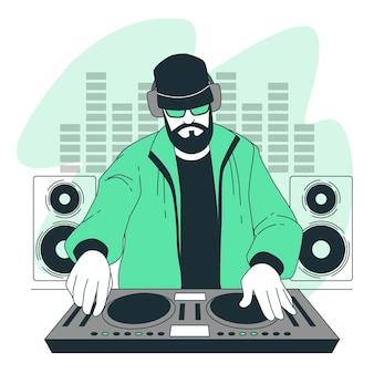 Illustration de concept de disc-jockey