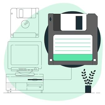 Illustration de concept de disquette