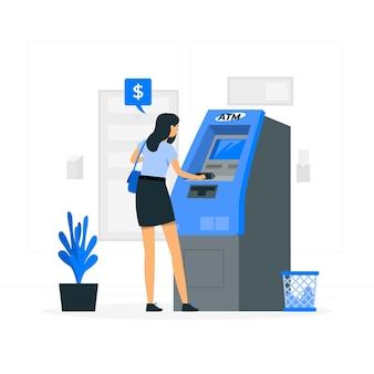 Illustration de concept de distributeur automatique de billets