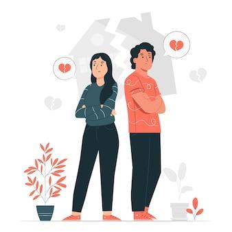 Illustration de concept de divorce