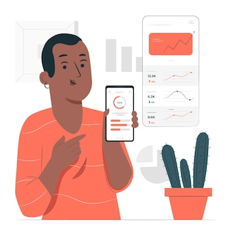 Illustration de concept de données d'application