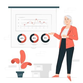 Illustration de concept de données financières