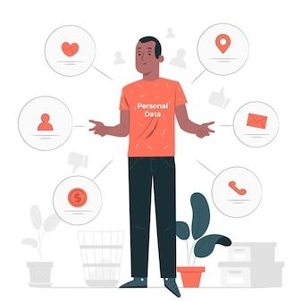 Illustration de concept de données personnelles
