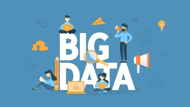 Illustration de concept de données volumineuses