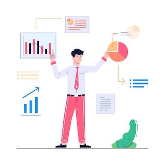 Illustration de concept de données