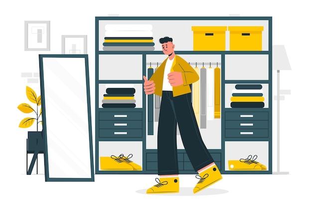 Illustration de concept de dressing