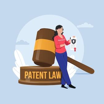 Illustration de concept de droit des brevets