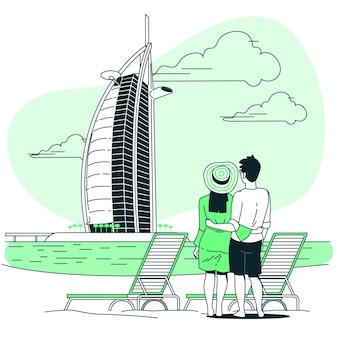 Illustration de concept de dubaï