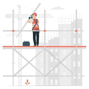 Illustration de concept d'échafaudage