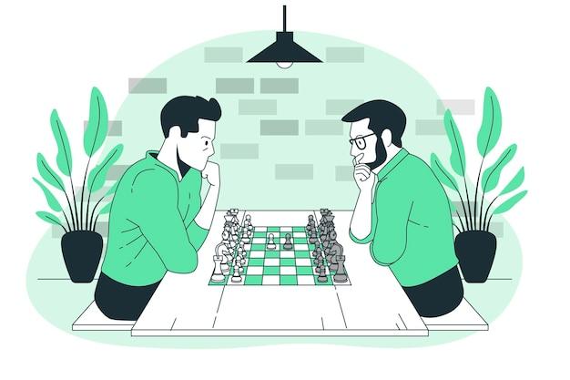Illustration de concept d'échecs