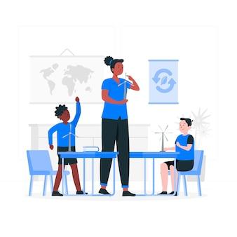 Illustration de concept d'éducation écologique