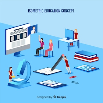 Illustration de concept d'éducation isométrique