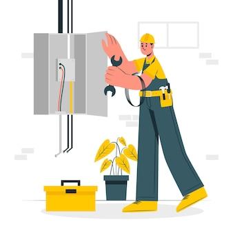 Illustration de concept électricien
