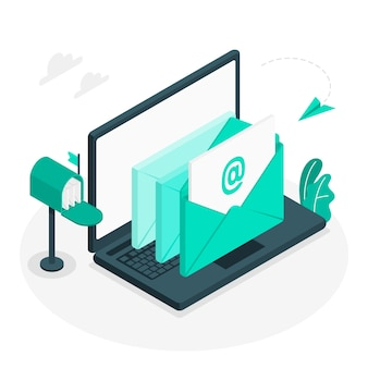 Illustration de concept d'emails
