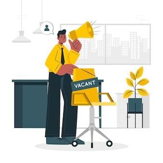 Illustration de concept d'embauche