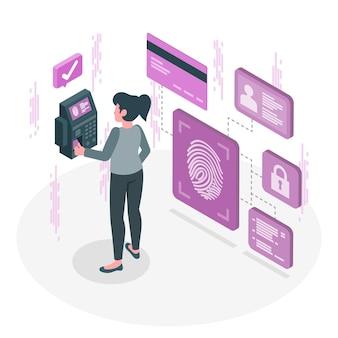 Illustration de concept d'empreintes digitales