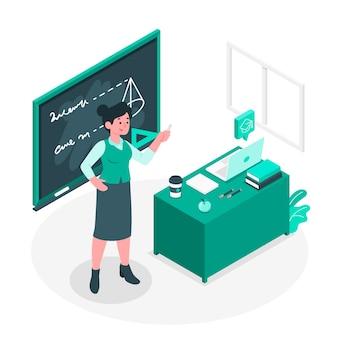 Illustration de concept d'enseignant