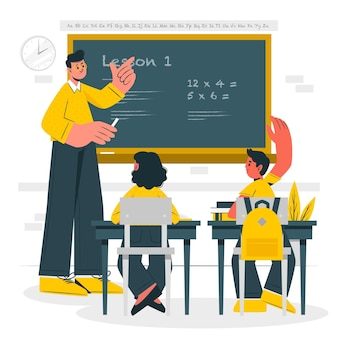 Illustration de concept d'enseignement