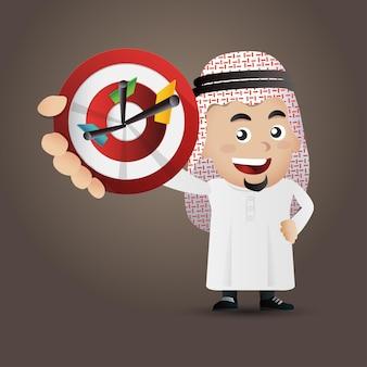 Illustration de concept d'entreprise arabe