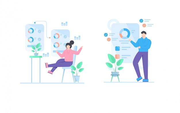 Illustration de concept d'entreprise pour le modèle de page de destination